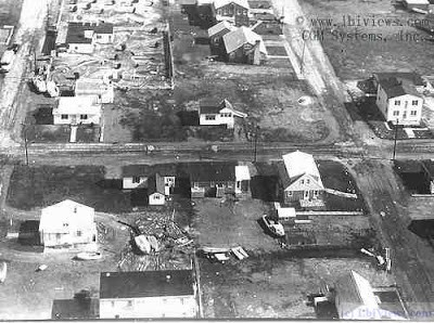 Aerial View of North Beach Haven after the March 1962 Storm.