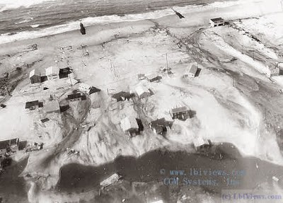 Aerial photos of the aftermath of the 1972 Noreaster