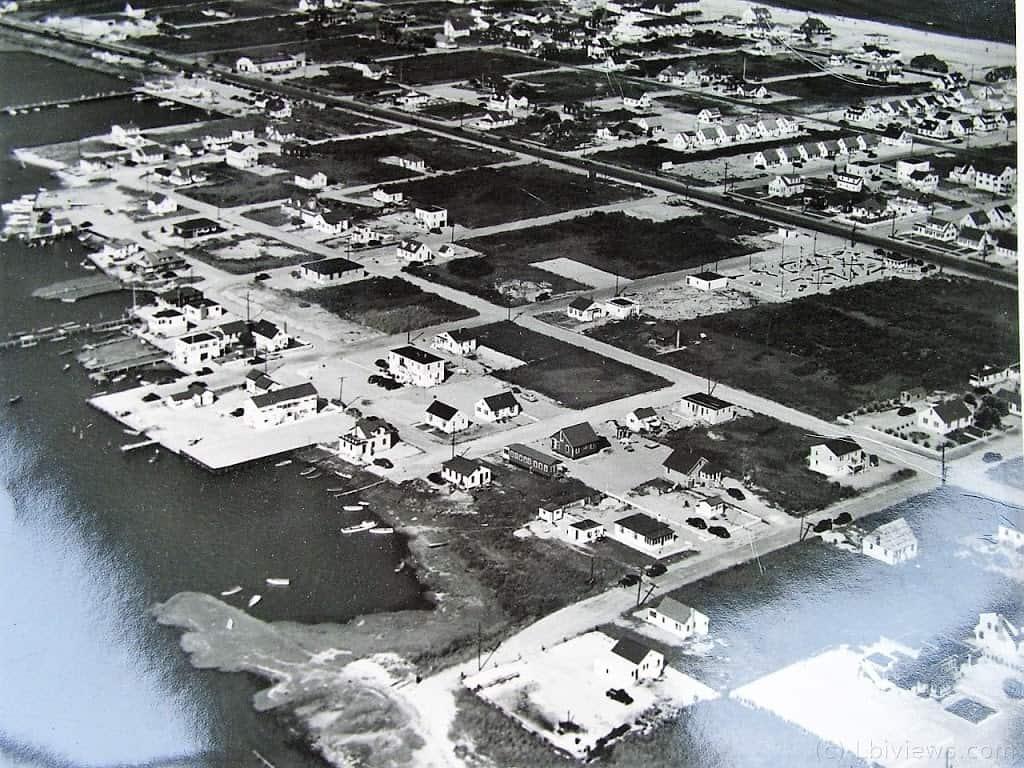Aerial Photo North Beach Haven NJ 1950s