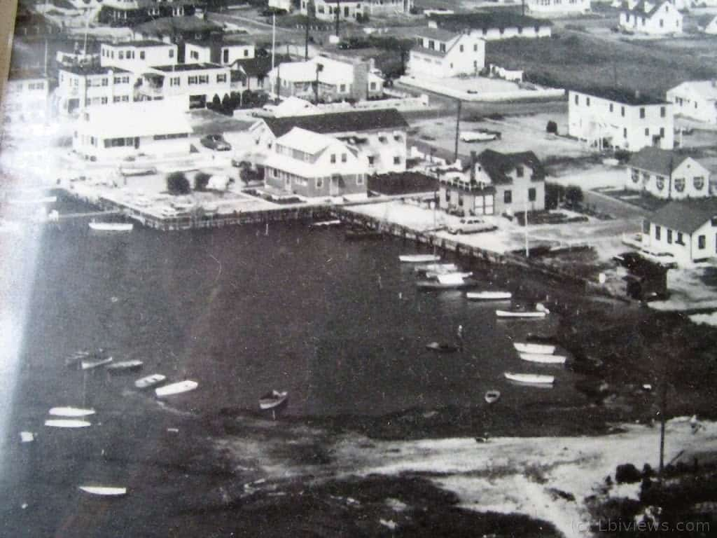 Boats in the cove - 1950's North Beach Haven