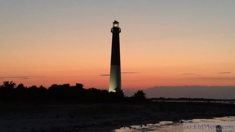 Barnegat Lighthouse at sunset Aug 2016