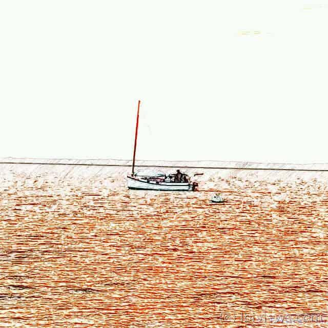Catboat at sunset June 2016