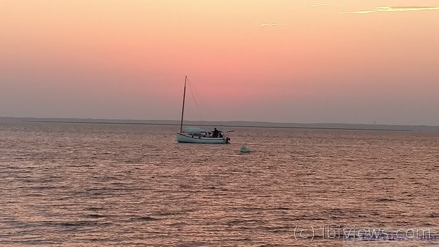 A catboat  at sunset June 2016