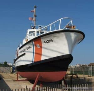 USCG Motor Lifeboat 44355 at Bayview Park.