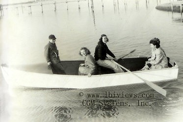 Women in a rowboat - North Beach Haven 1940's