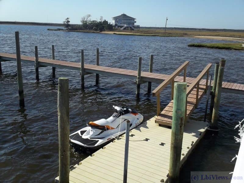 Seadoo at the Floating Dock at Antionetta's Restaurant