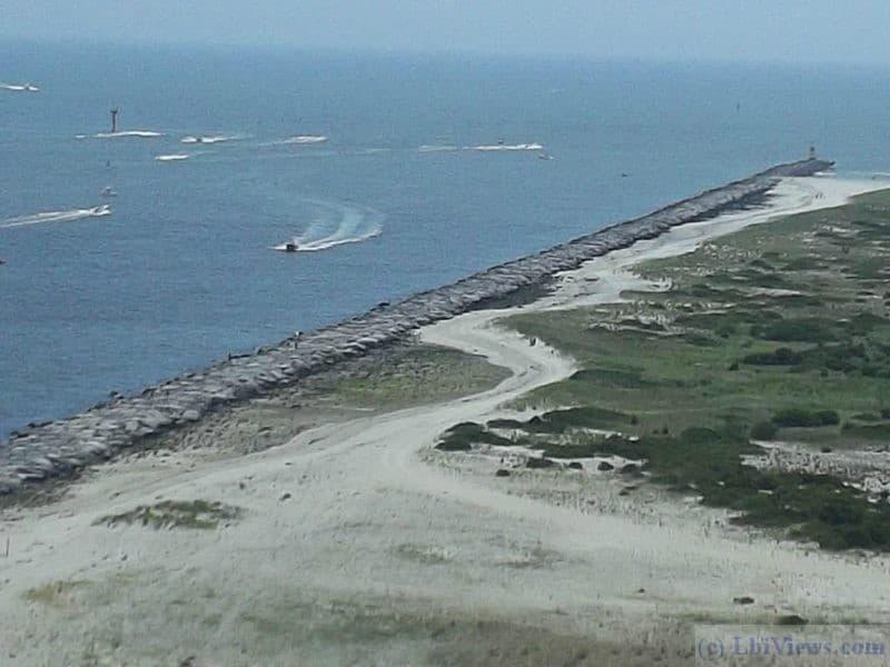 Barnegat Inlet as seen from the Barnegat Lighthouse
