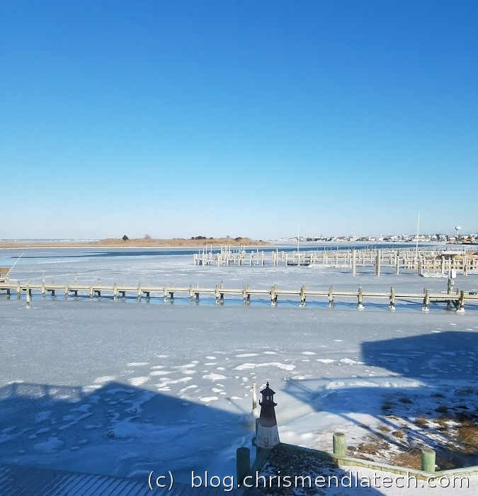 Frozen Bay Jan 2018 North Beach Haven