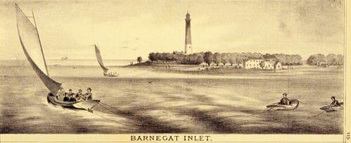 Barnegat Light Old engraving