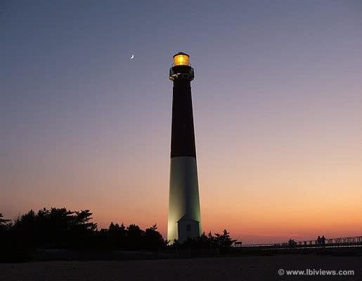 Barnegat Light at Sunset