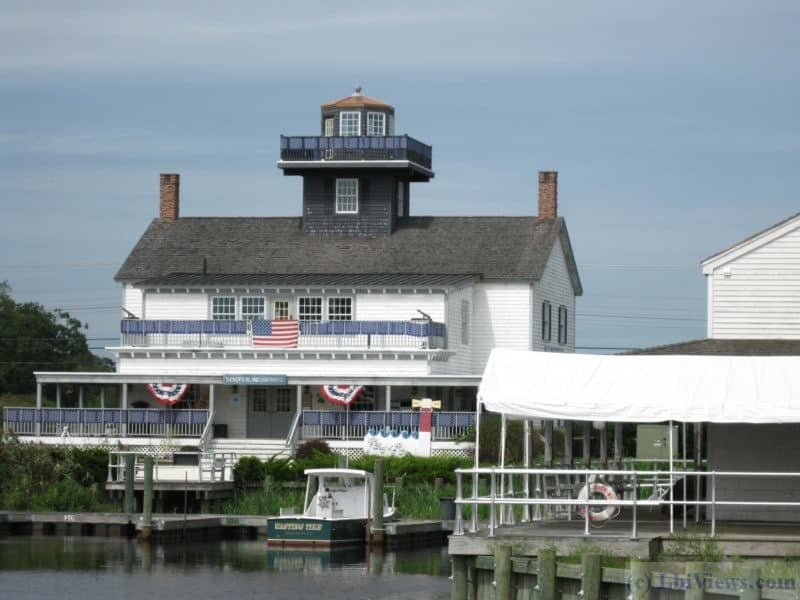 The reproduction of the Tucker's Island Lighthouse at the Seaport Museum on the Tuckerton Creek