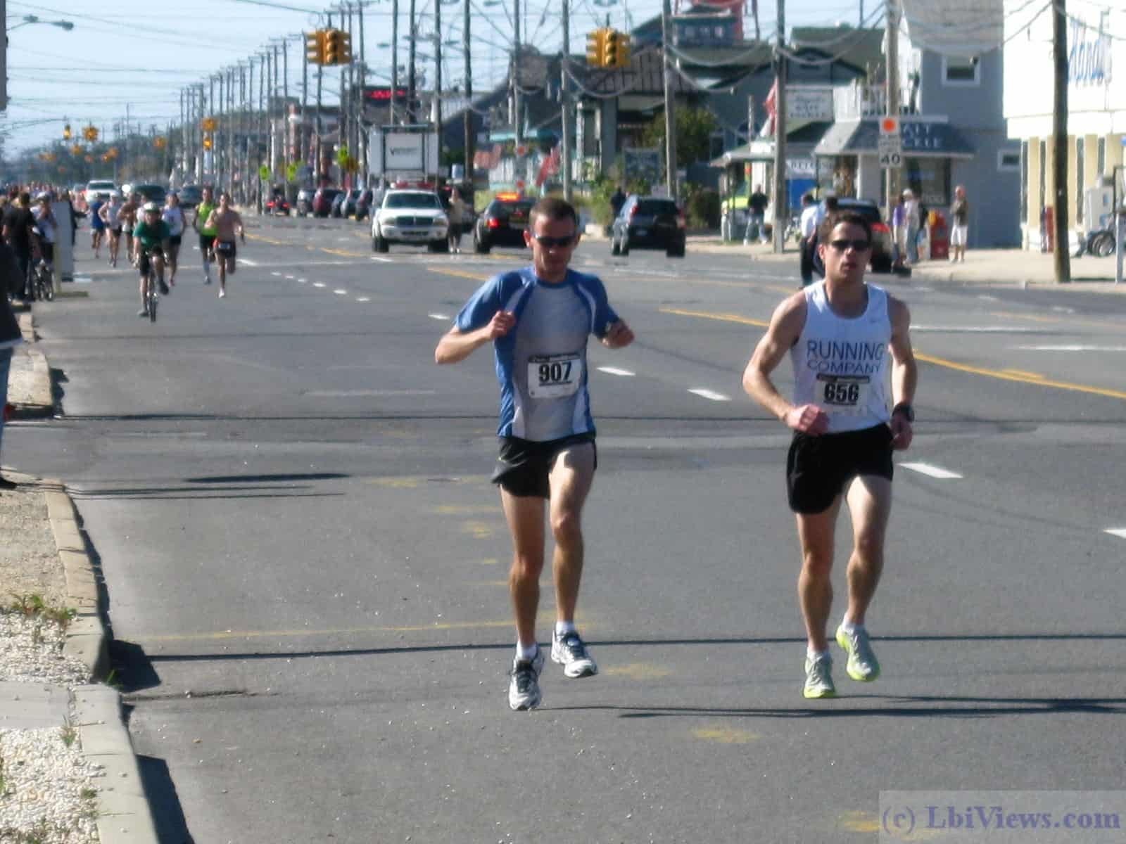 Runners competing in the Long Beach Island 18 Mile Run