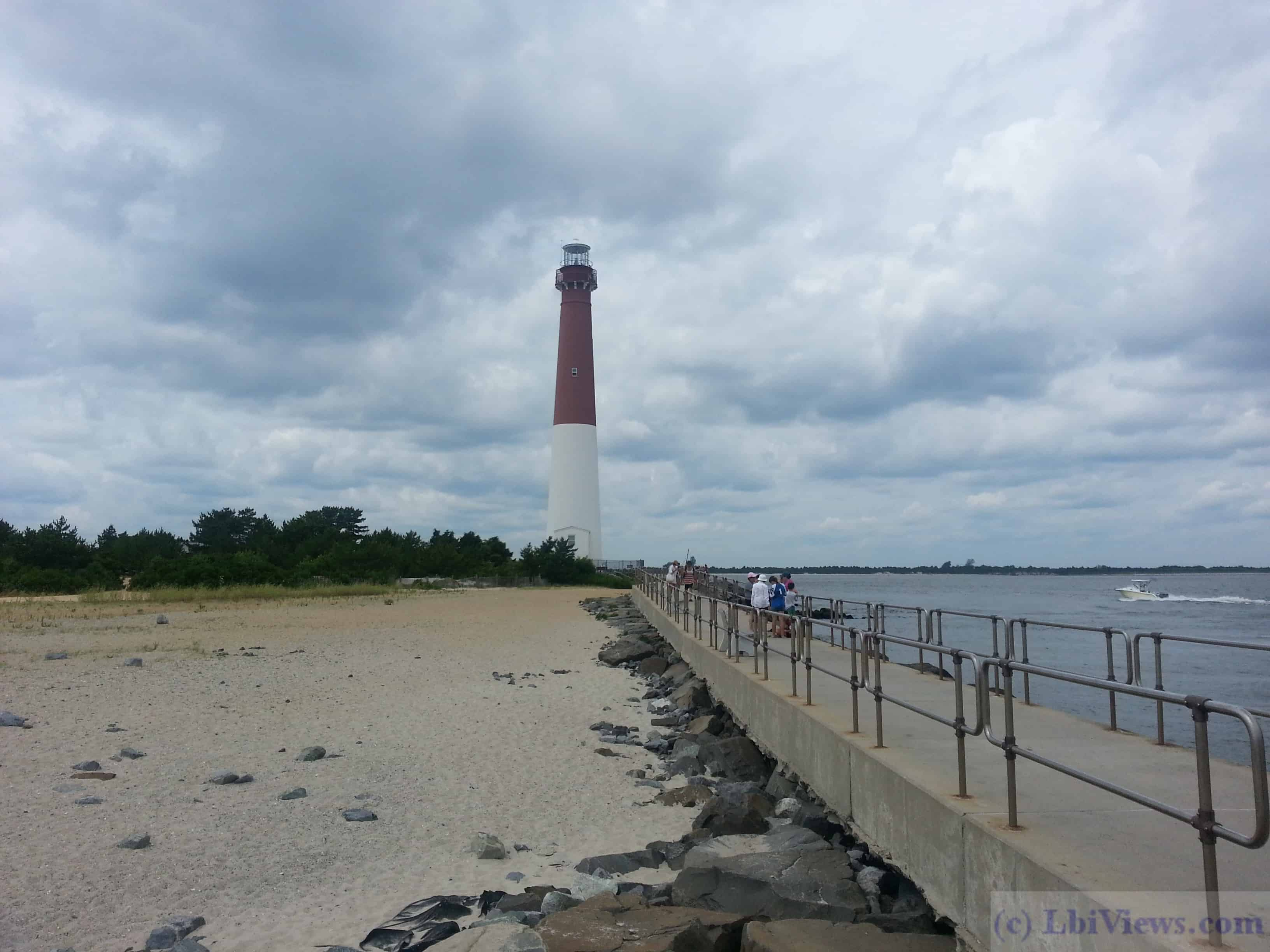 Barnegat Lighthouse from the jetty walkway