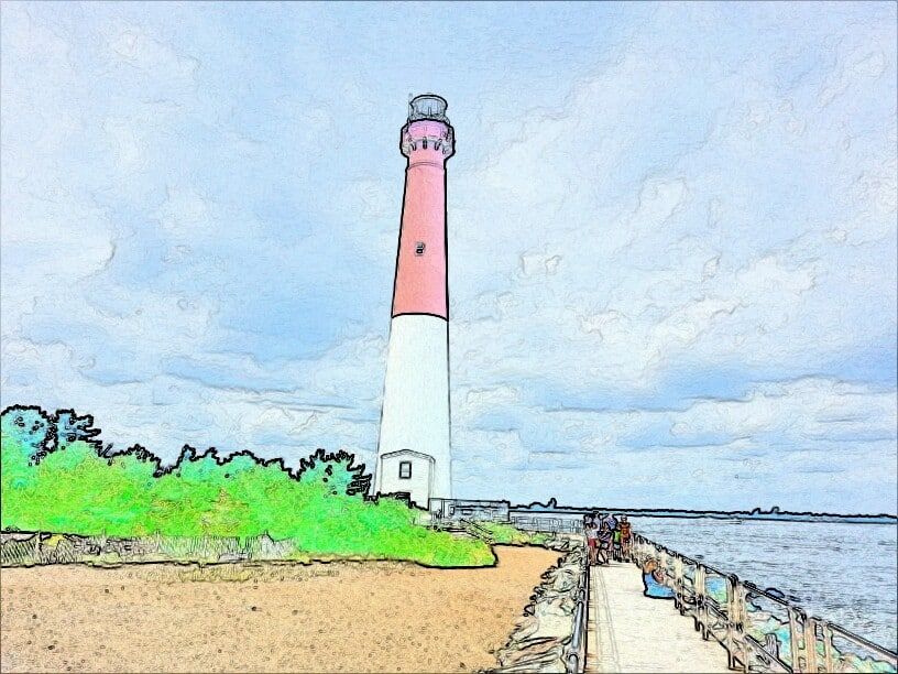 The Barnegat Lighthouse Watercolor