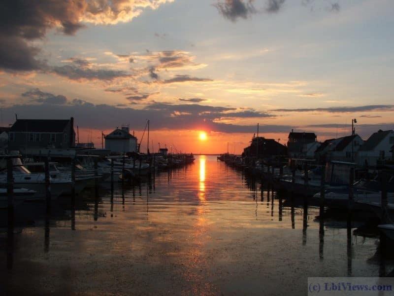 Sunset at Southwick's Marina