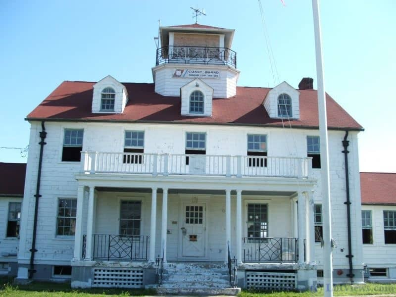 The old Coast Guard Station in Barnegat LIght Circa 2005