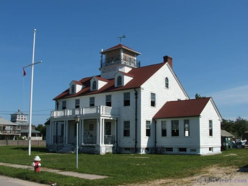 The Old Coast Guard Station in Barnegat Light - Now the Borough Hall