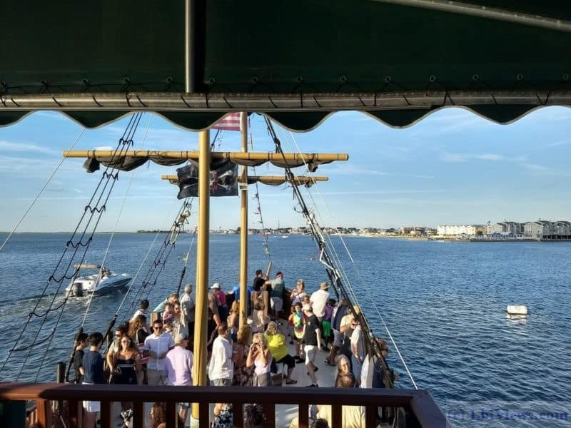 Partying during the sunset cruise on the Black Pearl.