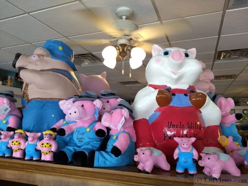 Pigs at Uncle Wills Pancake House