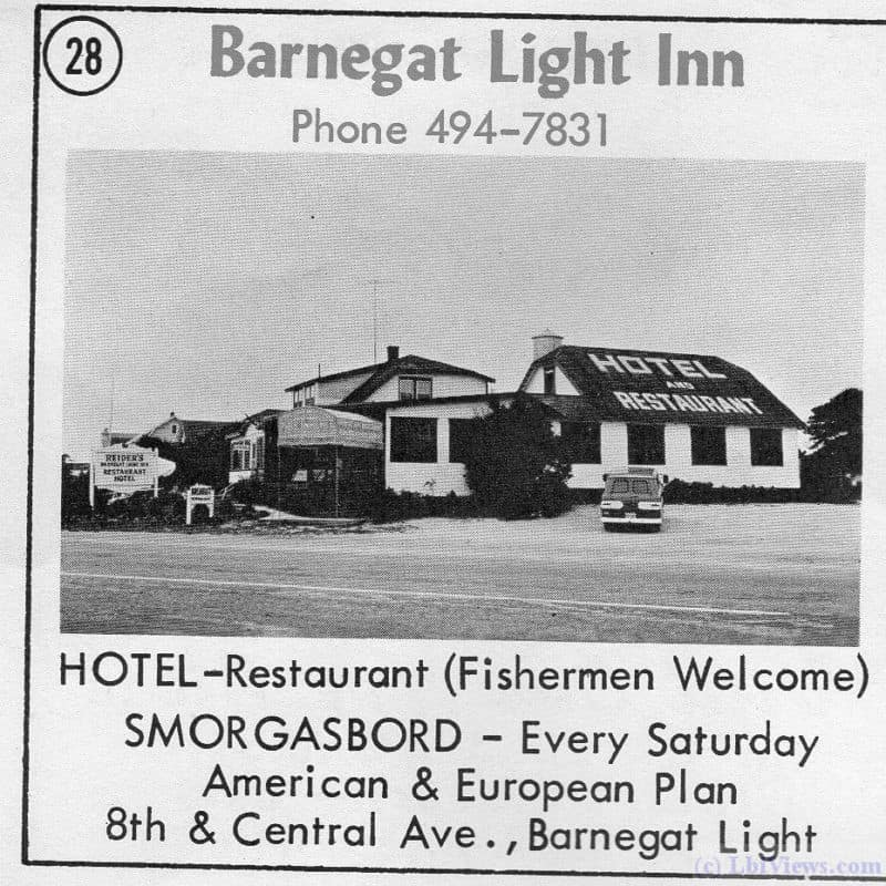 Barnegat Light Inn in Barnegat Light from a 1963 ad.