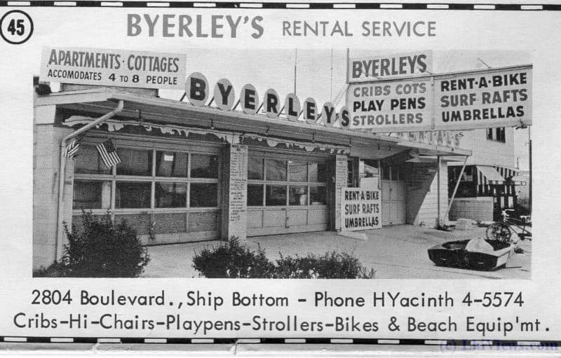 Byerley's Rental Service from a 1963 ad.