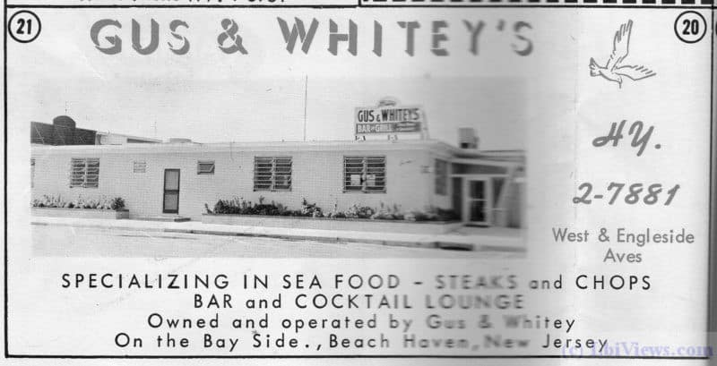 An ad from 1963 for Gus and Whitey's bar and cocktail lounge in Beach Haven, NJ