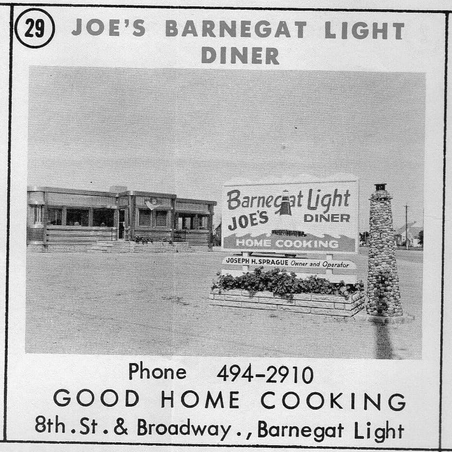 Joe's Barnegat Light Diner, now Mustache Bill's from a 1963 ad.