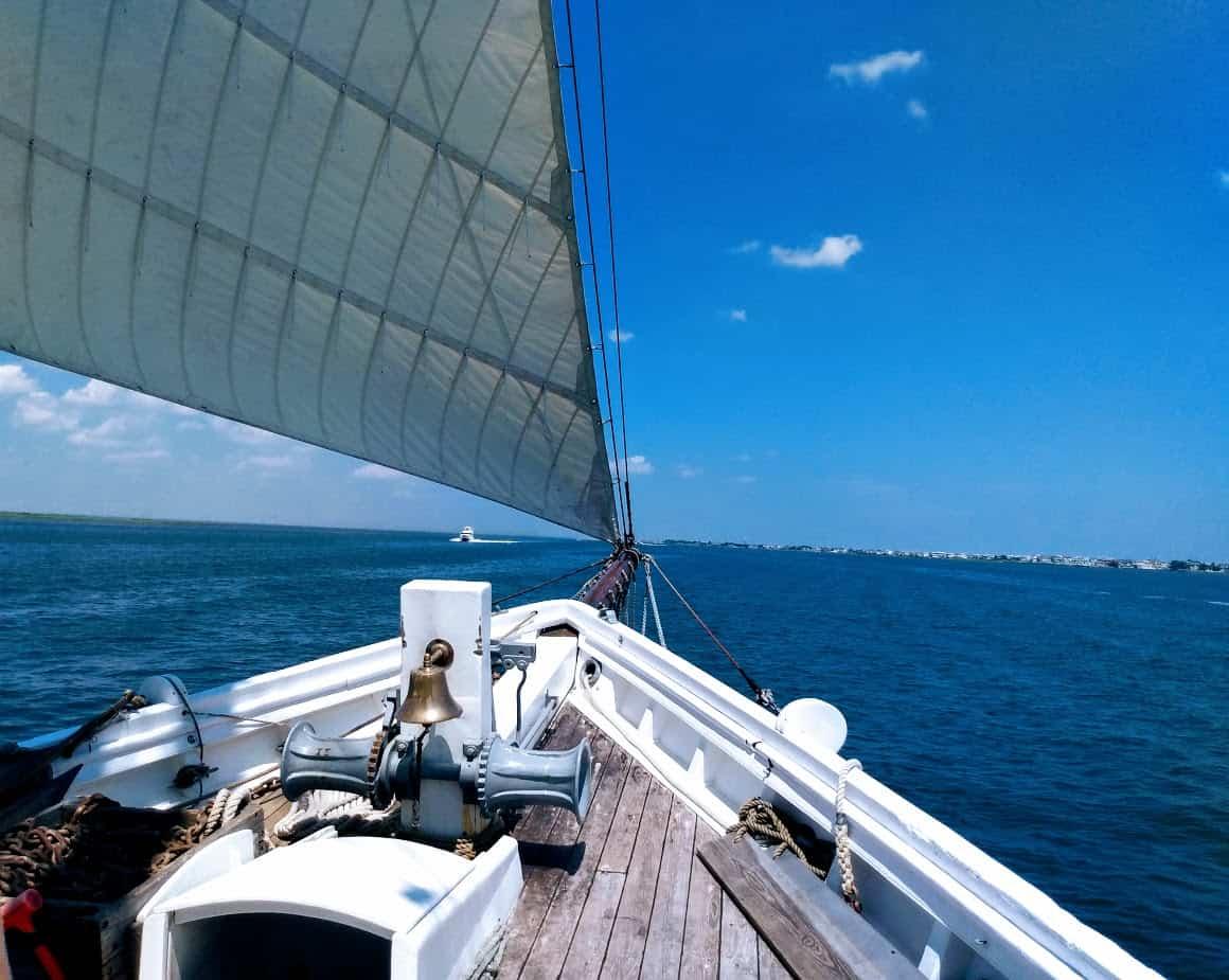 The A.J. Meerwald under sail