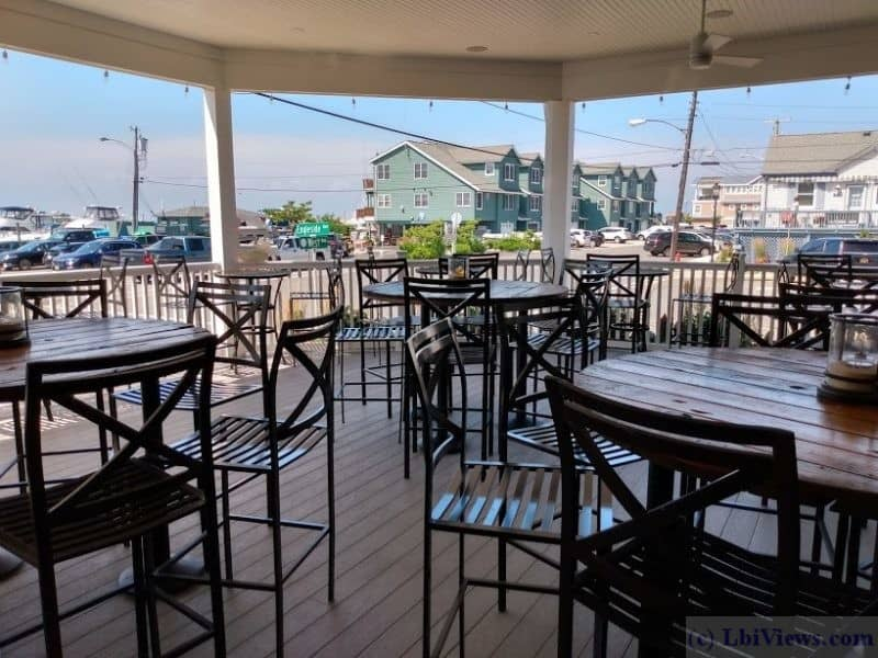 Street Level deck at Tucker's Tavern in Beach Haven, NJ