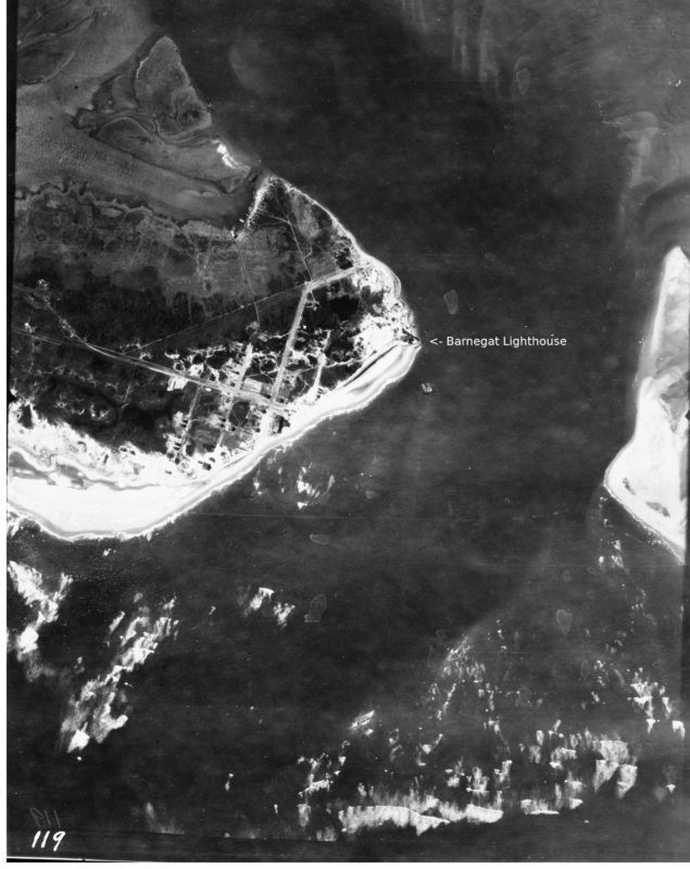 Aerial View of Barnegat Light from a 1920 Survey