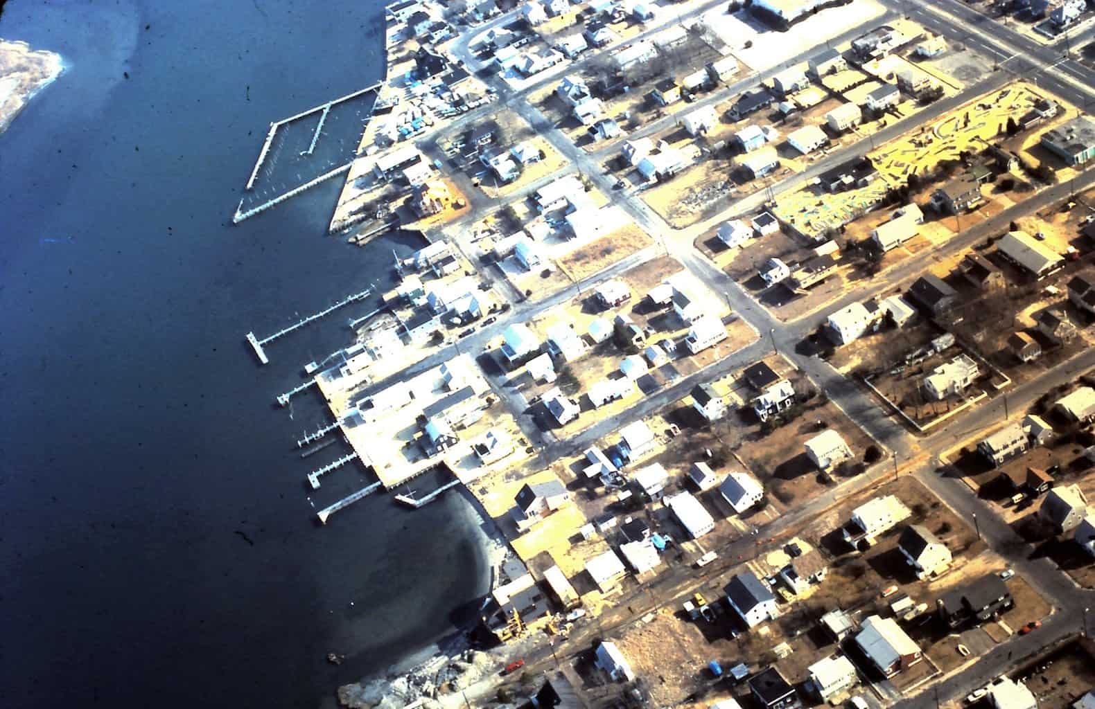 Aerial view of North Beach Haven, possibly 1980's