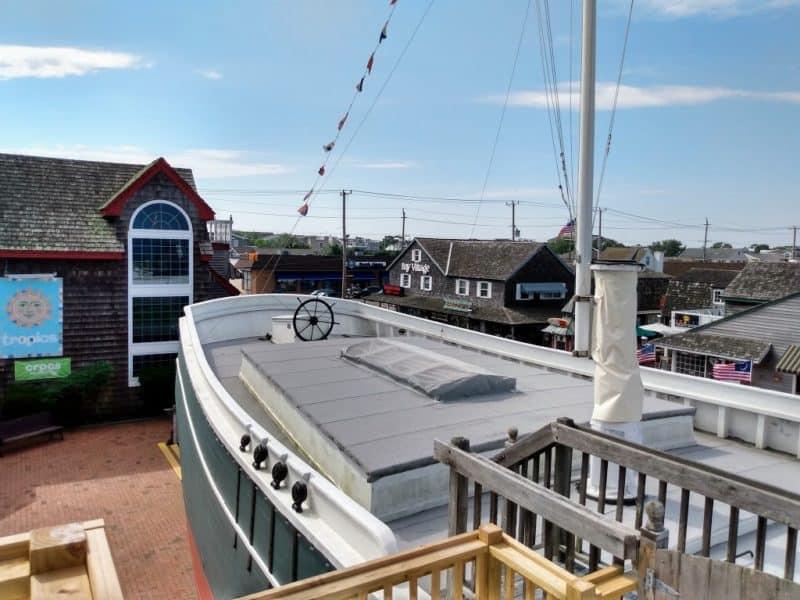 Aft deck of the replica ship- Schooner's Wharf - Beach Haven, New Jersey