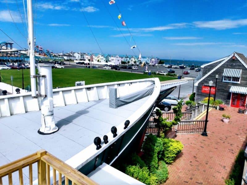 Forward deck of the replica ship- Schooner's Wharf - Beach Haven, New Jersey