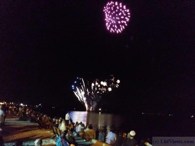 Fireworks courtesy of Fantasy Island on Labor Day weekend 2019
