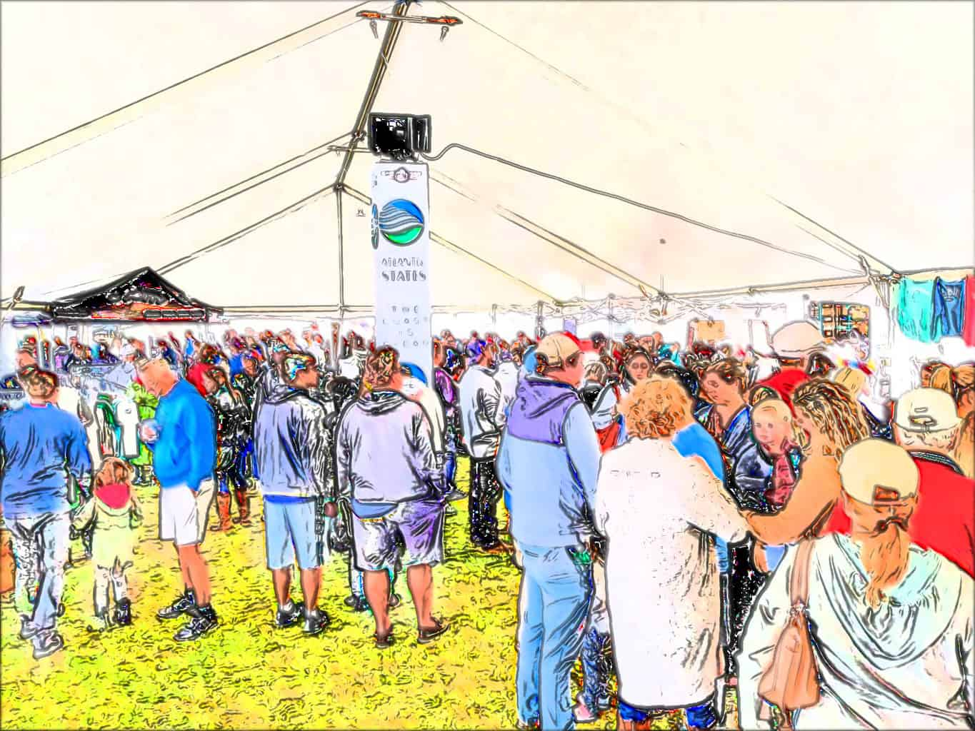 Tent at the 2019 Merchant's Mart