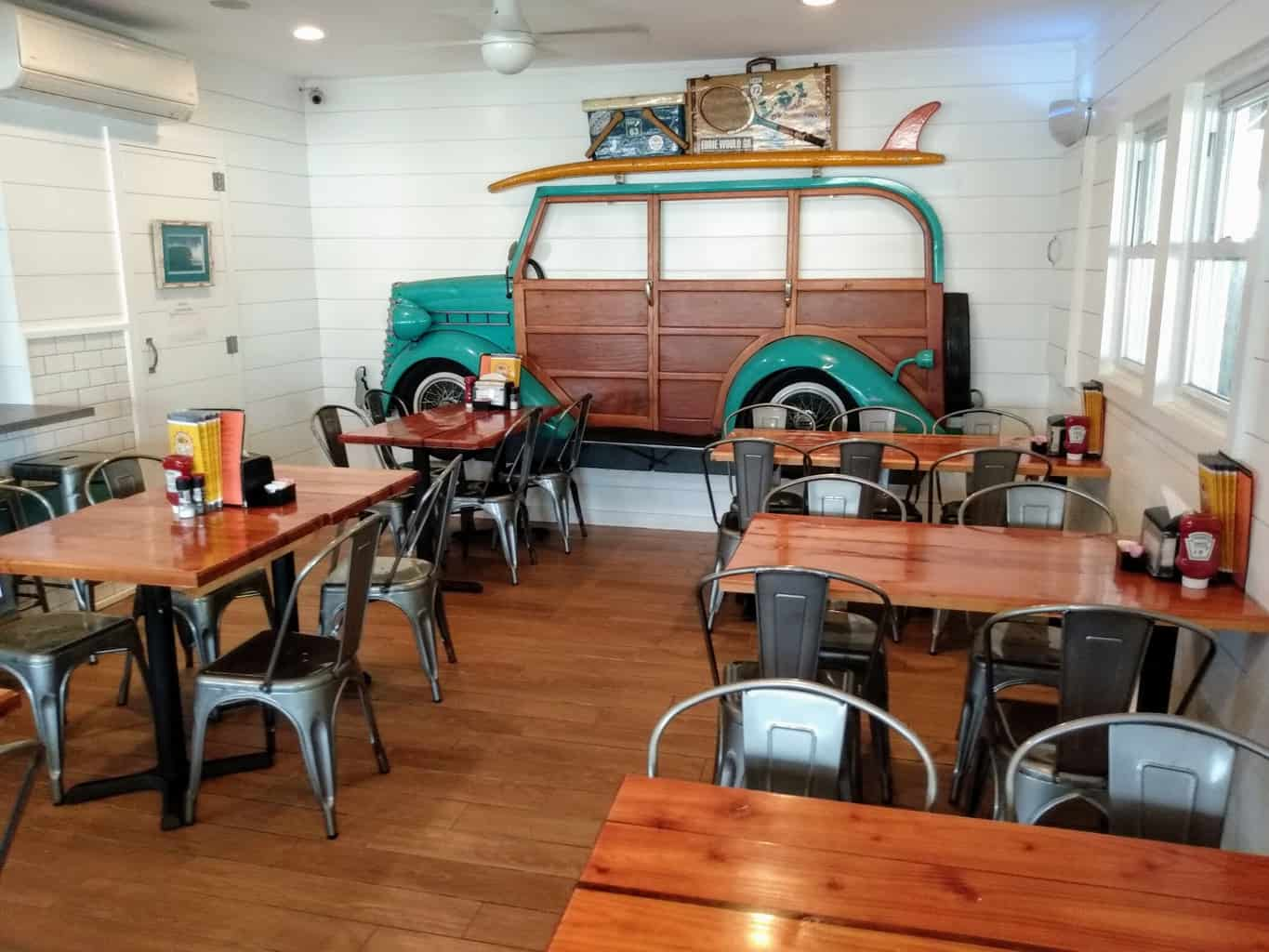 California Grill interior and Woody Mural