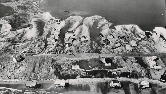 Harvey Cedars after the March 1962 Storm - Army Corps of Engineers photo