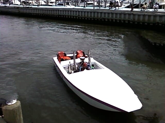A Racing Garvey at the Beach Haven Boat Ramp