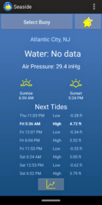 Seaside Android app - General Buoy information