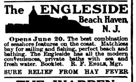 A 1910 ad for The Engleside in Beach Haven