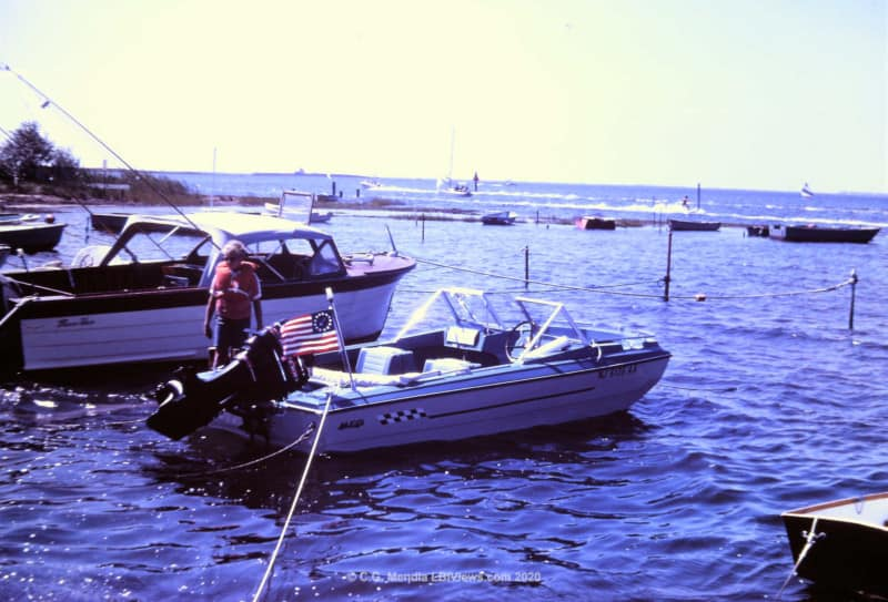 A cove full of boats - North Beach Haven 17th Street - Early 1970's