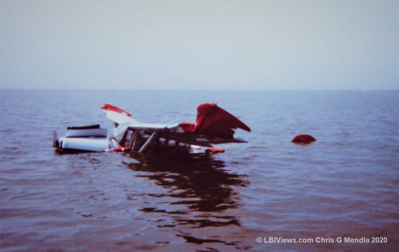 Banner plane crash off Long Beach Island 1970s