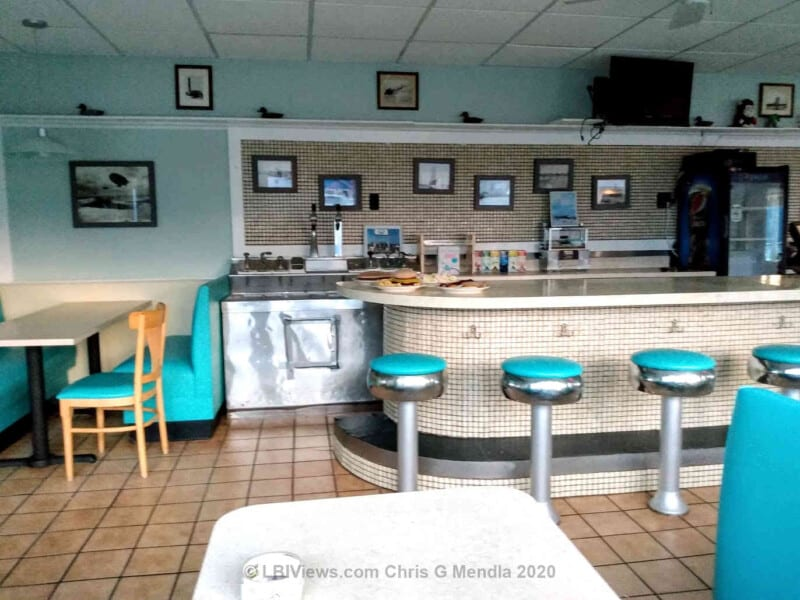 Fred's Diner in Beach Haven NJ - Counter and Booth