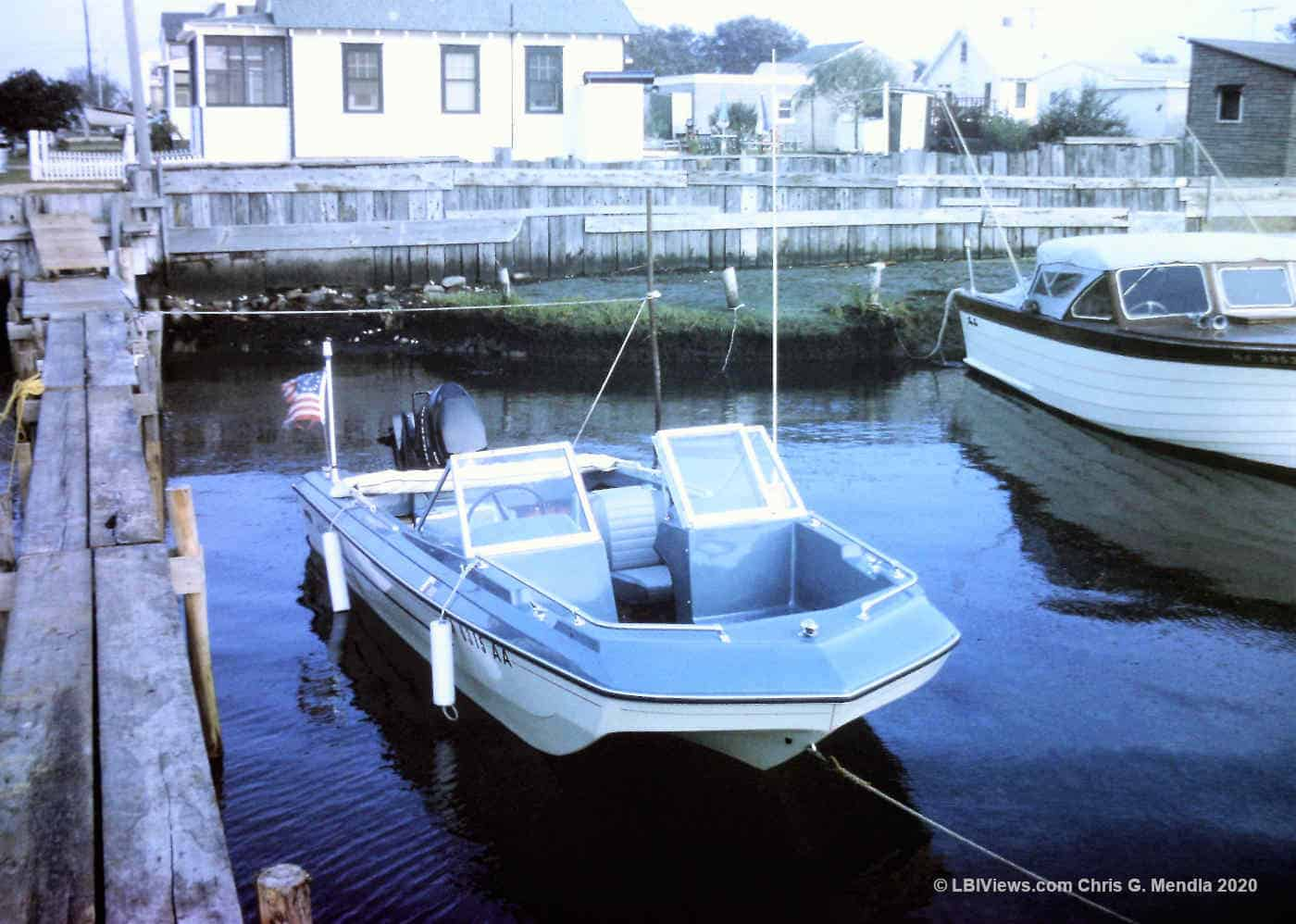 15' MFG and a Penn Yan in the cove at 17th Street North Beach Haven -1970s'