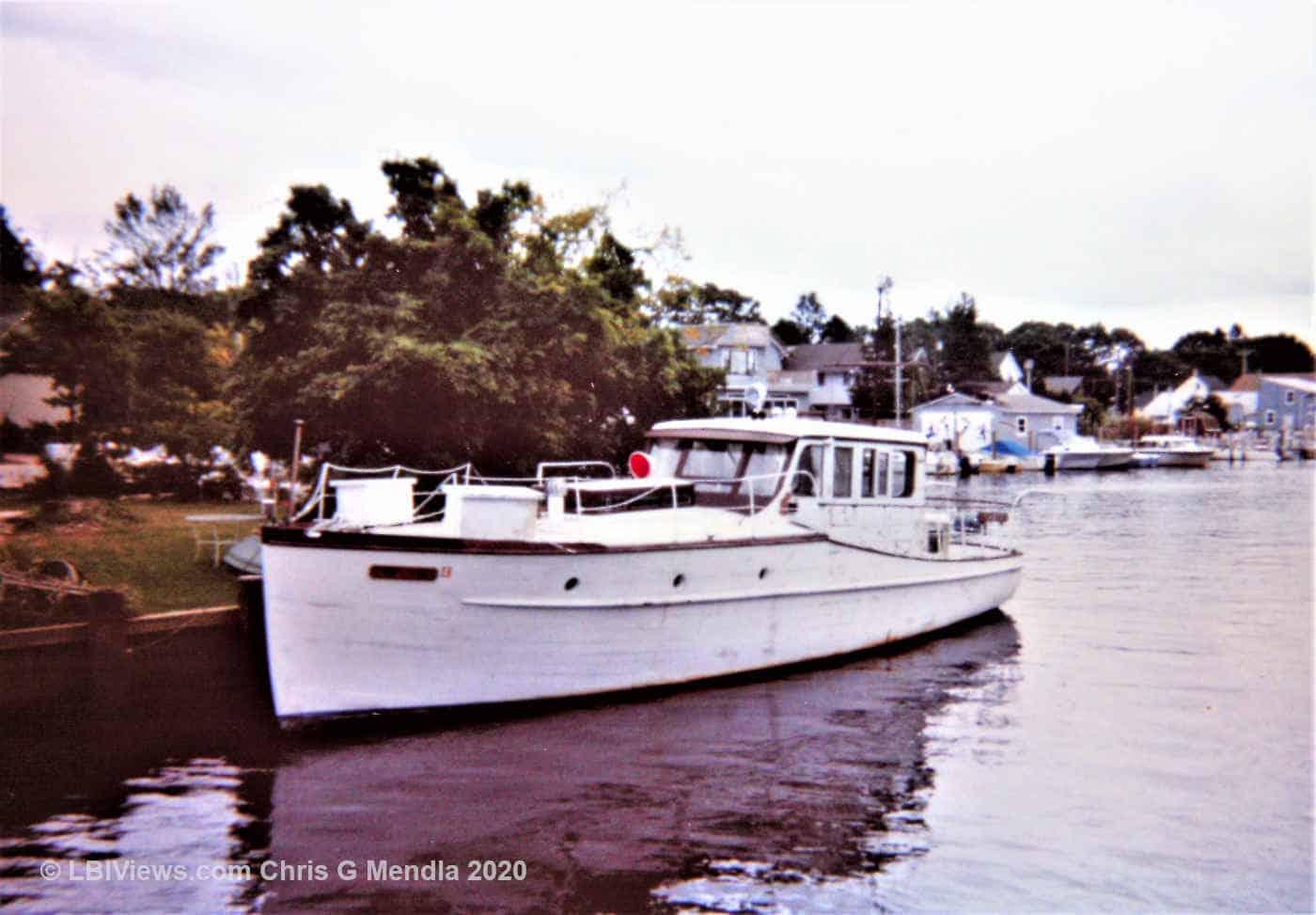 Wood Yacht at the head of Tuckerton Creek - 1990's