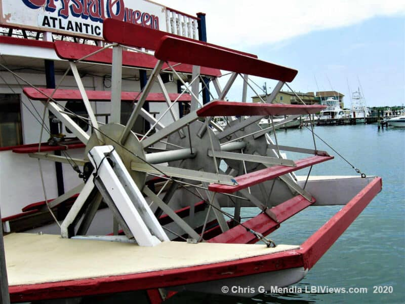 The Crystal Queen's paddle Wheel