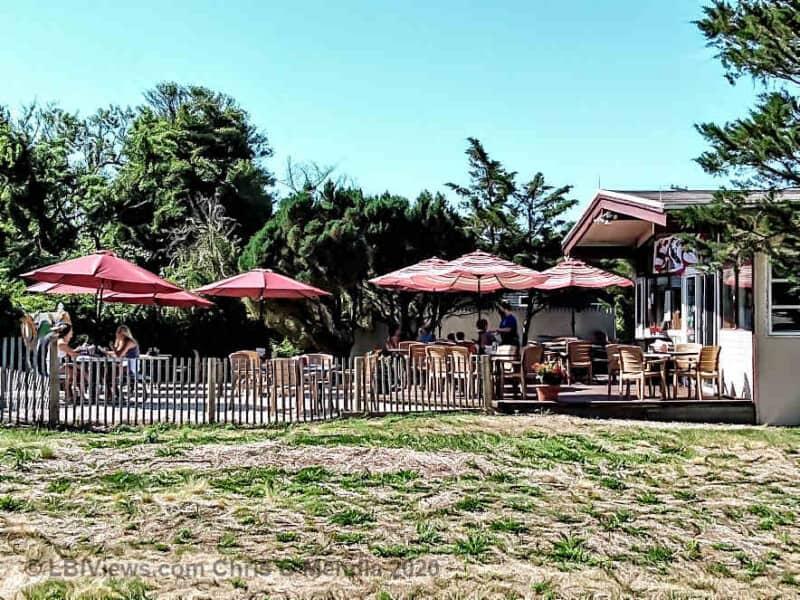 Outdoor dining at Kelly's Old Barney Restaurant - Barnegat Light LBI